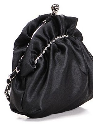 Cremoso-Marfim-Satin-Bolsa-Clutch-Shoulderbag-Maquiagem